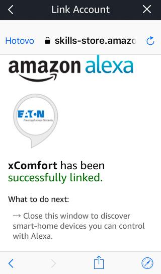 Integrace Amazon Alexa s Eaton xComfort SKILL