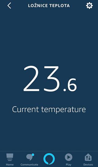 Alexa vyčítá teplotu ze systému xComfort